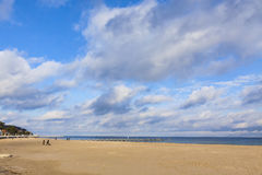 Beach at the Baltic seacoast in Travemunde, Germany Royalty Free Stock Image