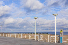 Beach at the Baltic seacoast in Travemunde, Germany Royalty Free Stock Images
