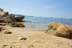 Beach of Bandol. In summer Stock Images