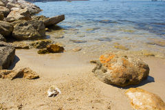 Beach of Bandol. In summer Stock Photo