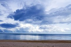 Bang Boet Beach with clound before the rain. The beach Bang Boet Beach, with clound before the rain Chumphon Province Thailand is famous for travel Royalty Free Stock Photo