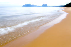The beach Bang Boet Beach after the rain. The beach Bang Boet Beach, after the rain Chumphon Province Thailand is famous for travel Royalty Free Stock Photos