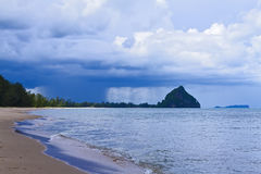 The beach Bang Boet Beach and the rain. The beach Bang Boet Beach, and the rain Chumphon Province Thailand is famous for travel Royalty Free Stock Images