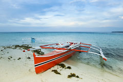 Beach Banka outrigger fishing boat philippines  Royalty Free Stock Image