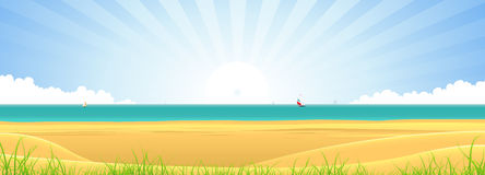 Beach Banner royalty free illustration