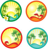 Beach banner. Royalty Free Stock Images