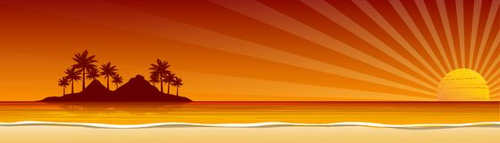 Beach banner Royalty Free Stock Image