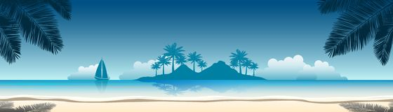 Beach banner stock illustration