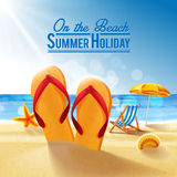 On the beach. Banner for summer holiday on the beach Royalty Free Stock Images