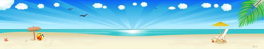 Beach Banner. Vector Royalty Free Stock Photos