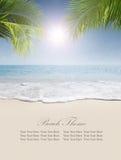 Beach banner Stock Photography