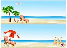 Beach banners Stock Photos