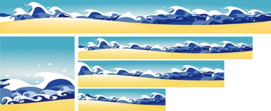 Beach banners royalty free illustration