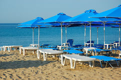 Beach bar. Umbrellas Royalty Free Stock Images
