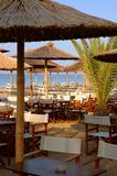 Beach bar. Flogita, Greece Stock Photo