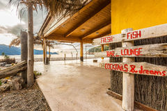 Beach bar at Bussaglia beach in Corsica Stock Image