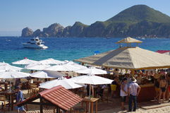 Beach bar in Cabo San Lucas royalty free stock images