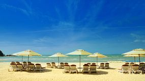 Beach Bar in Cherating Beach. Umbrellas from the Beach Bar, Malaysia, Kuantan, Cherating Beach Stock Photos