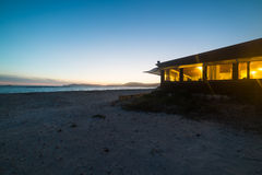 Beach bar on a clear night Royalty Free Stock Photography