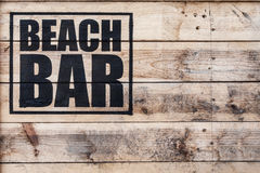 Beach bar Stock Images