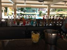 Beach bar with drinks . Stock Image