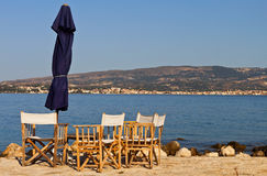 Beach bar at Kefalonia island in Greece Royalty Free Stock Images