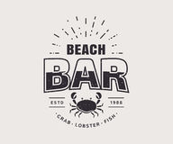 Beach bar logo isolated on white background. Vector template. Stock Image