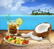 Beach bar menu Stock Photography