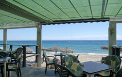Beach Bar Mojacar Spain Royalty Free Stock Photography