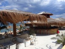 Beach bar at Obzor, Bulgaria Royalty Free Stock Image