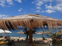 Beach bar at Obzor, Bulgaria Stock Photo