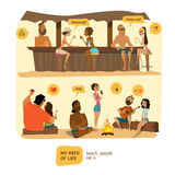 Beach bar and party festival Royalty Free Stock Photography
