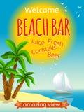 Beach Bar Poster Stock Images