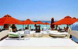 Beach bar restaurant, Mykonos Stock Images
