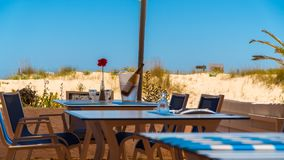 Beach Bar and Restaurant Stock Photo