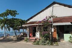 Beach bar and restaurante in Puerto Viejo, Costa Rica Stock Photo
