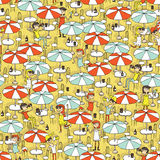 Beach bar seamless pattern Royalty Free Stock Photography