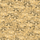 Beach bar seamless pattern Stock Images