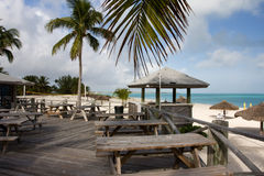 Beach bar seating Royalty Free Stock Images