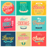 Beach Bar set Royalty Free Stock Image