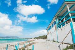 Beach bar by the shore Stock Photo