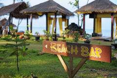 Beach bar sign Stock Photography