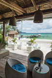 Beach bar in sok san area of koh rong island cambodia Royalty Free Stock Photo