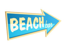 Beach bar. Stylish beach bar arrow pointer. EPS10 Royalty Free Stock Images