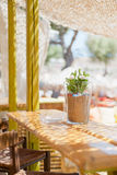 Beach bar table Stock Photos