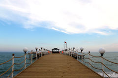 Beach bar in Turkey. Open air bar at pier, Antalya, Turkey Royalty Free Stock Photo