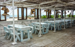 Beach bar view in Mozambique Royalty Free Stock Photography