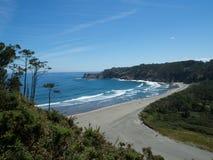 Barayo beach. Beautiful and wild beach, located Asturias, in northern Spain Stock Images