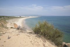 Beach at Barbate in Cadiz, Andalusia, Spain Royalty Free Stock Photography
