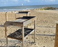 Beach barbecue. A pair of beach barbecues available for public use all year round Royalty Free Stock Photo